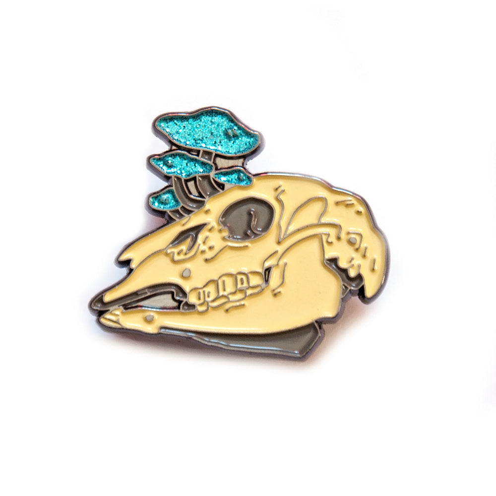 Mushroom Skull Pin - Gold Crow Co.