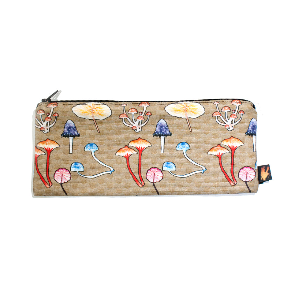 Mushroom Pattern Pencil Case - Gold Crow Co.