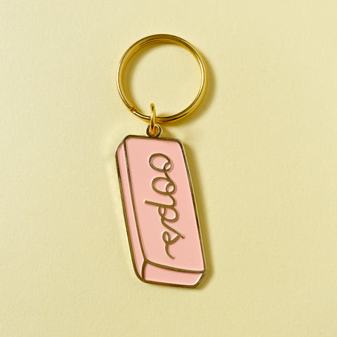 Oops Eraser Enamel Keychain - Gold Crow Co.
