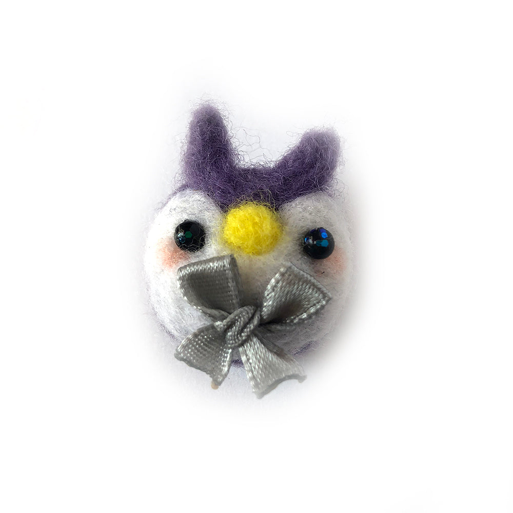 Needlefelt Purple Owl Pin - Gold Crow Co.