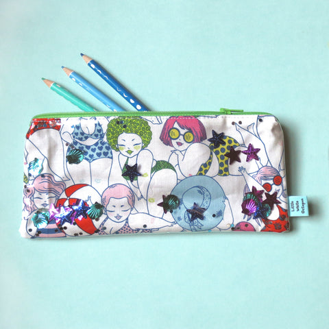 Beach Babes Confetti Pencil Case
