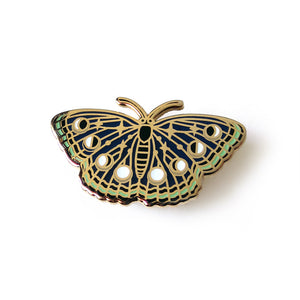 Night Butterfly Enamel Pin - Gold Crow Co.