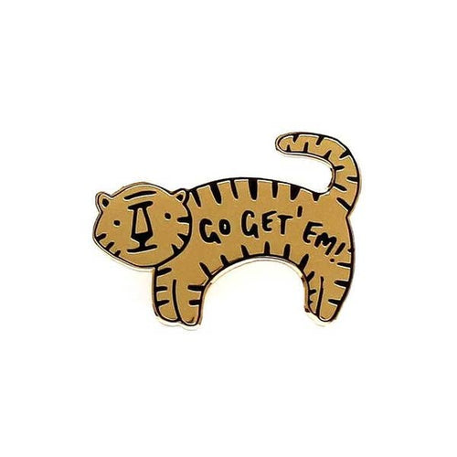 Go Get 'Em Tiger Enamel Pin - Gold Crow Co.