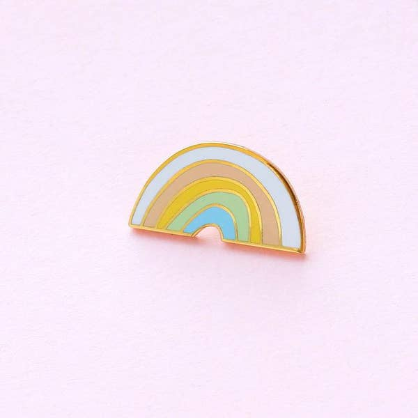 Pastel Rainbow Enamel Pin - Gold Crow Co.