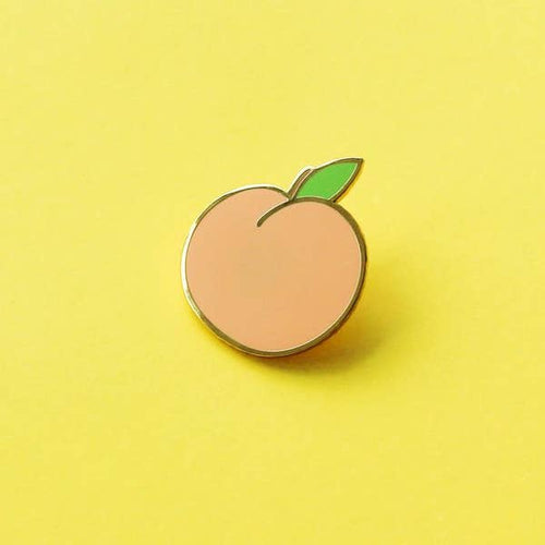 Peach Hard Enamel Pin - Gold Crow Co.