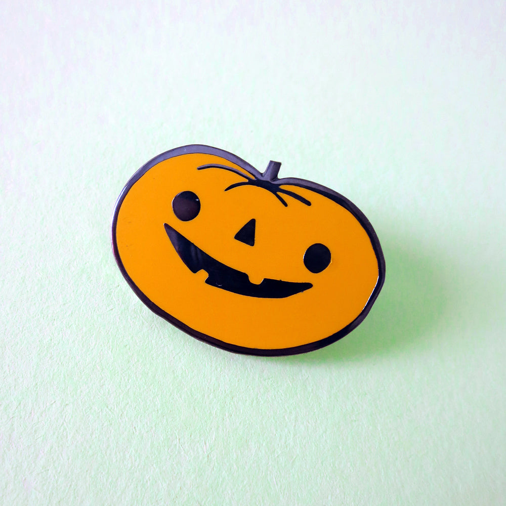 Happy Pumpkin Hard Enamel Pin