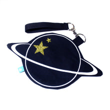 Saturn Planet Wristlet with Strap - Gold Crow Co.