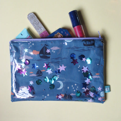 Neverland Large Confetti Zipper Pouch