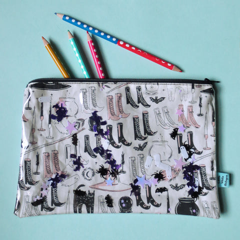 Witchy Stuff Large Confetti Zipper Pouch