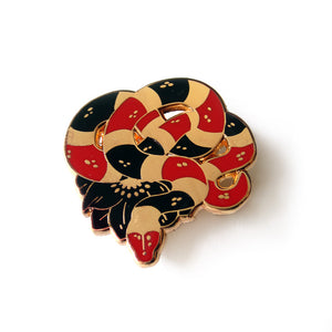 Milk Snake Enamel Pin - Gold Crow Co.