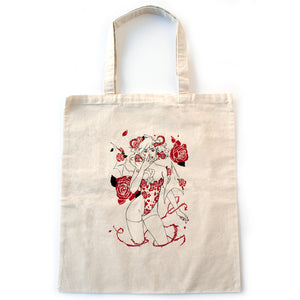 Rose Demon Tote Bag - Gold Crow Co.