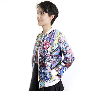 Colorful Samurai All-Over Print Jacket - Gold Crow Co.