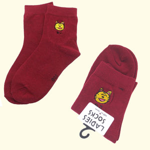 Cat Embroidered Socks - Gold Crow Co.