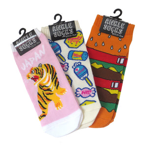 Double Cheeseburger Ankle Socks - Gold Crow Co.
