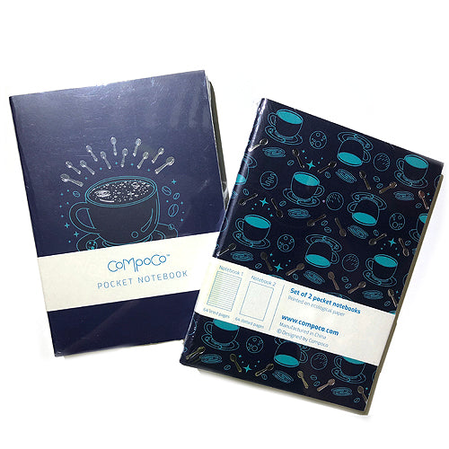 Galaxy Latte Mini Pocket Notebook Set - Gold Crow Co.