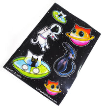 Space Kitties Sticker Sheet - Gold Crow Co.