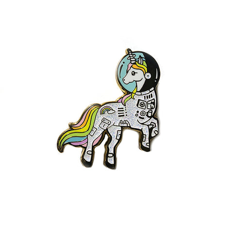 Astro Unicorn Enamel Pin - Gold Crow Co.
