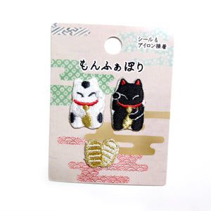 Lucky Cat Mini Patch Set - Gold Crow Co.
