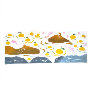 Capybara Japanese Tea Towel - Gold Crow Co.
