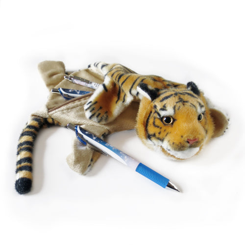 Tiger Rug Pencil Case - Gold Crow Co.