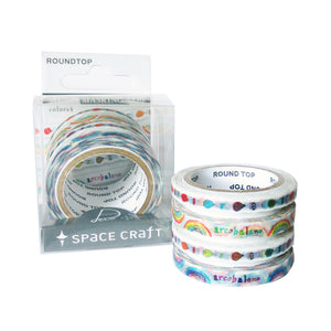 Rainbow 4-Pack Washi Tape - Gold Crow Co.