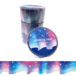 Aurora Galaxy Die Cut Washi Tape