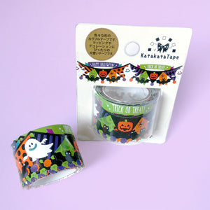 Halloween Garland Thick Die-Cut Washi Tape - Gold Crow Co.