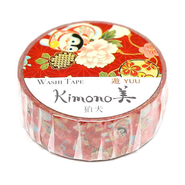 Inuhariko Kimono Washi Tape - Gold Crow Co.