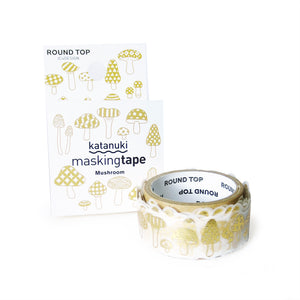 Golden Mushroom Washi Tape - Gold Crow Co.