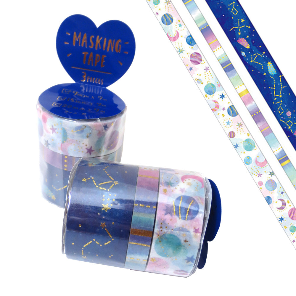 Cosmic Space Washi Tape 3-pack - Gold Crow Co.