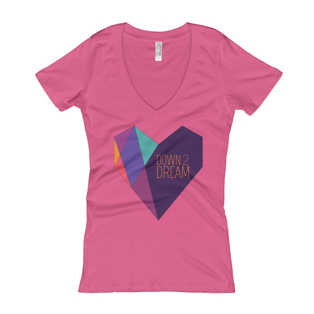 Heart - Women's V-Neck T-shirt