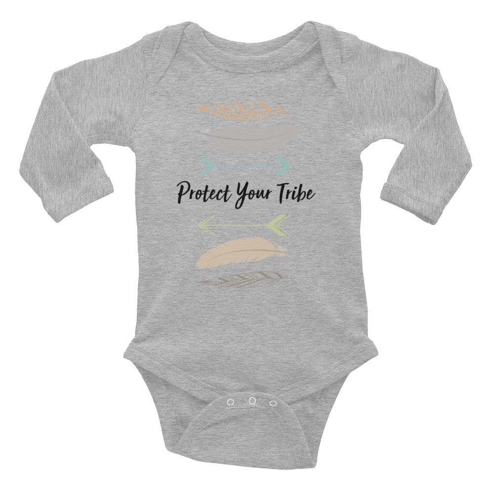 Protect Your Tribe - Long Sleeve Onesie