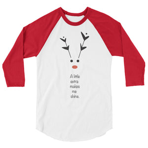 Rudolph - Unisex / Men's 3/4 Sleeve Raglan Shirt