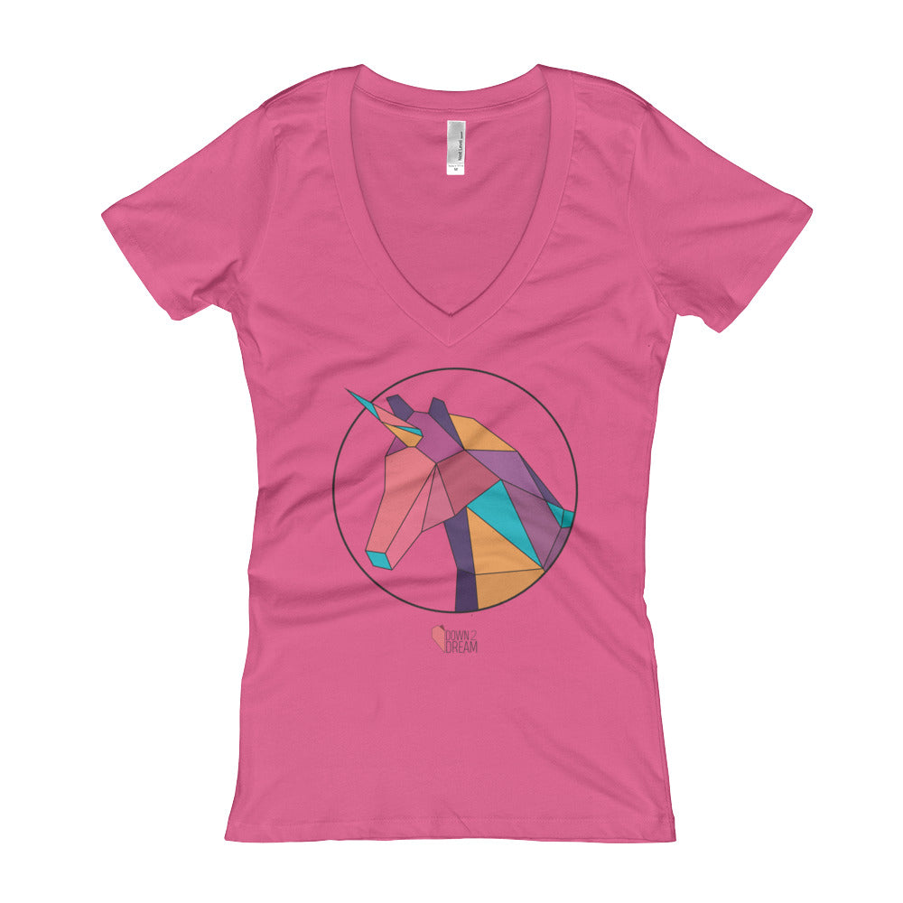 Unicorn - Women's V-Neck T-shirt