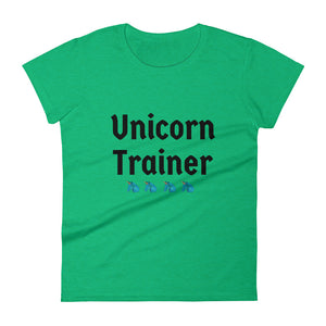 Unicorn Trainer 4 Blue - Women's T-shirt