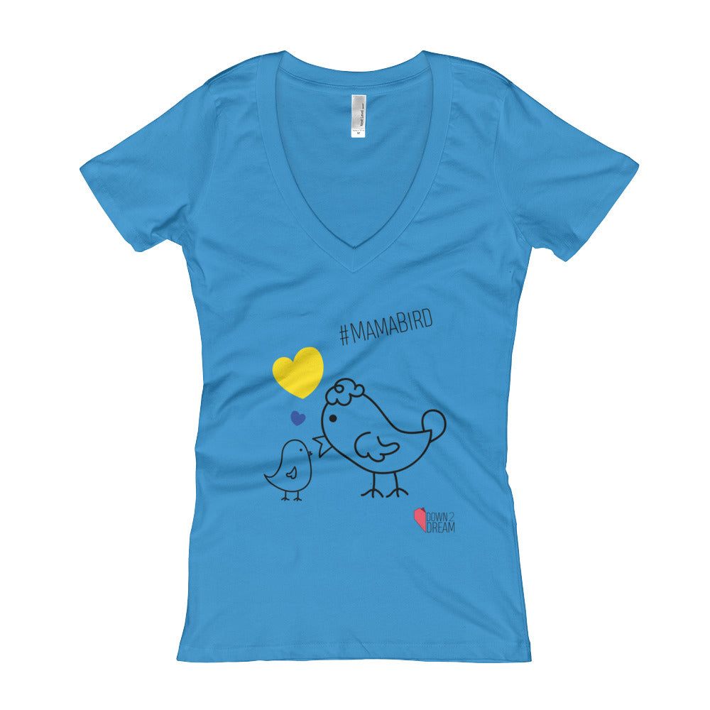 #MamaBird - Women's V-Neck T-shirt
