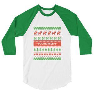 Happy Holidays - Unisex / Men's 3/4 Sleeve Raglan Shirt