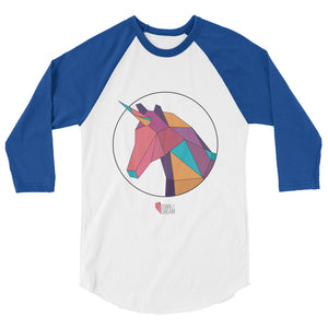 Unicorn - 3/4 Sleeve Raglan Shirt