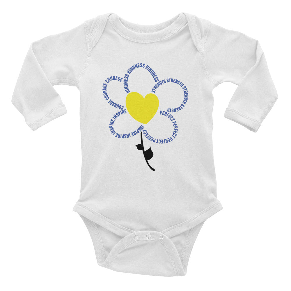 Flower - Long Sleeve Onesie