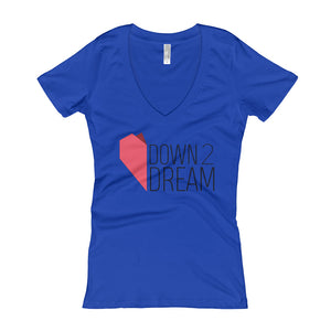 Down2Dream - Women's V-Neck T-shirt