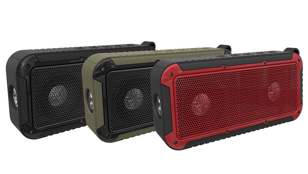 Outdoor Portable Waterproof Wireless Bluetooth Speaker with Microphone and Bicycle Mount LED Flashlight