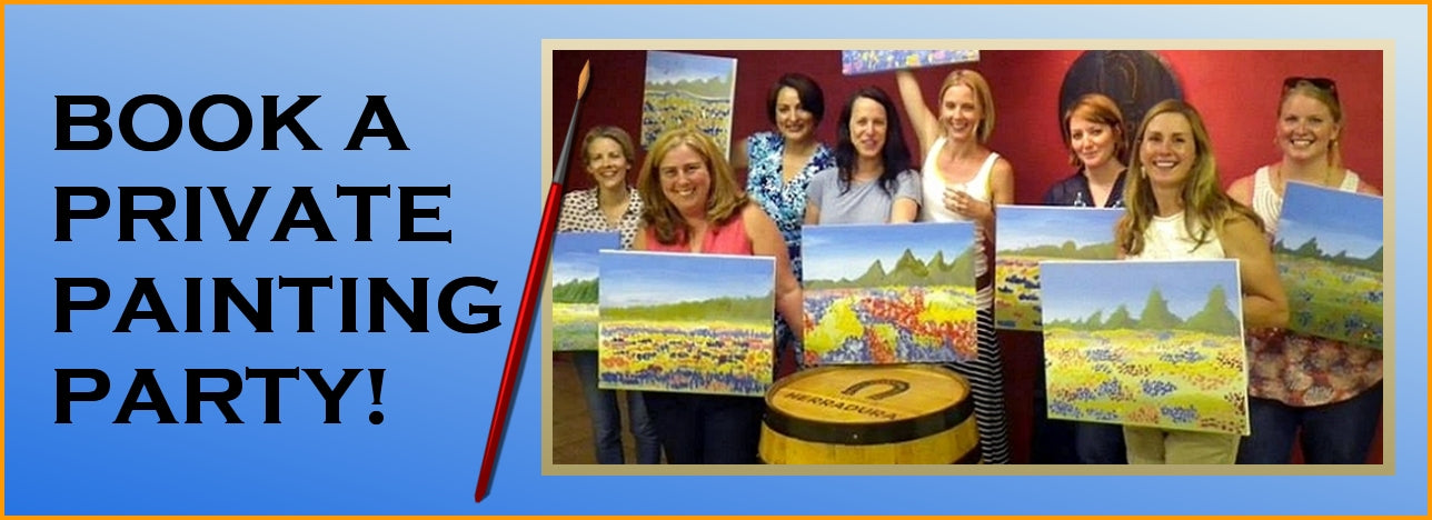 Organize a Great Paint, Wine, & Canvas Party in our Tulsa Studio!