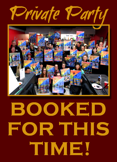 Tue April 24, 2018 2-hr off-site class for Mitch Tulsa OK Paint, Wine, & Canvas Class