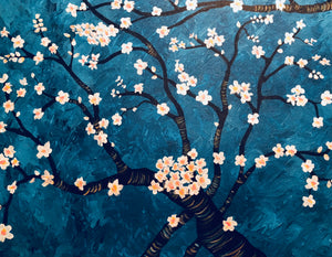 "Sat, Jan 20, 2018, 7-10pm ""Almond Tree"" Public Tulsa OK Paint, Wine, & Canvas Class"