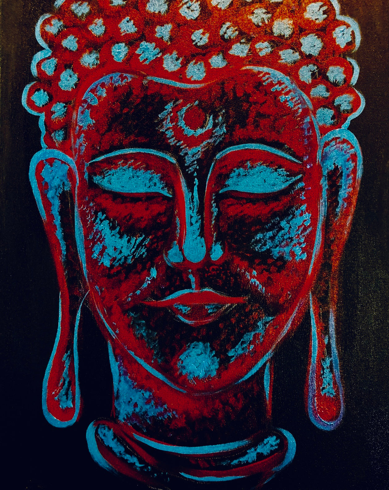 "Sat, Dec 30, 2017, 7-10pm ""Buddha"" Public Tulsa OK Paint, Wine, & Canvas Class"