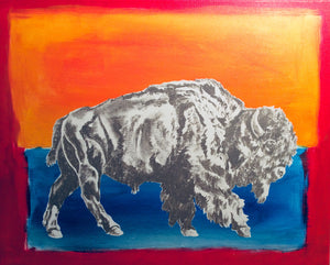 "Fri, Apr 5, 2019, 7-10pm ""Abstract Buffalo"" Public Tulsa OK Paint, Wine, & Canvas Class"