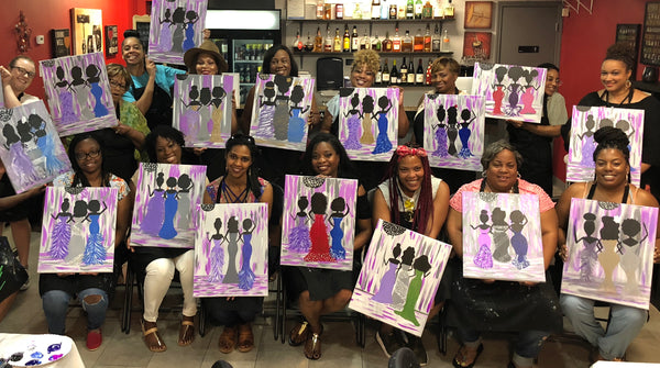 "Sat Nov 16, 2019, 7-10pm ""Ladies' Night Out"" Public Tulsa OK Paint, Wine, & Canvas Class"