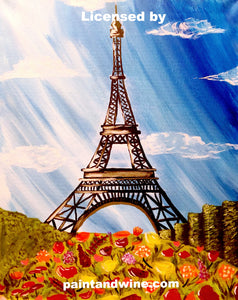 "Fri, Apr 13, 2018, 8-10pm ""Paris Spring"" Public Tulsa OK Paint, Wine, & Canvas Class"