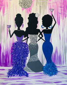"Sat, Jun 2, 2018, 7-10pm ""Ladies' Night Out"" One Margarita included! Public Tulsa OK Paint, Wine, & Canvas Class"