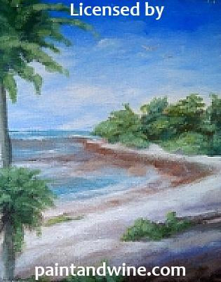 "Fri Jun 22, 2018, 7-10pm ""Hidden Cove"" Public Tulsa OK Paint, Wine, & Canvas Class"